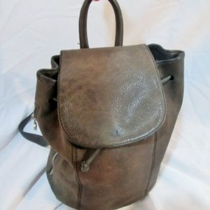 UNISA Leather Pebbled BACKPACK Rucksack Travel BAG
